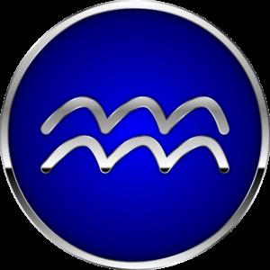 Aquarius zodiac symbol artwork