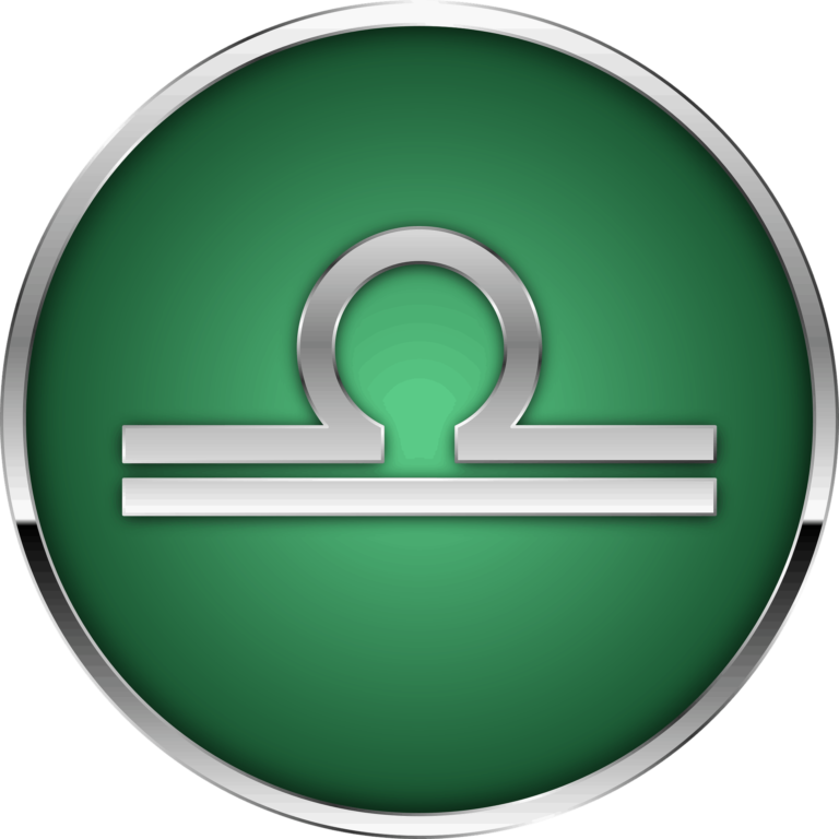 Libra zodiac symbol artwork