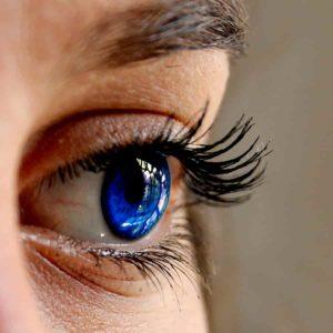 close up blue eye image