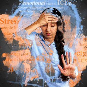 sad girl thinking and feeling stressed