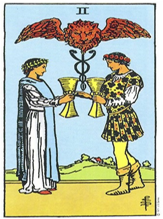 2 of cups, Two of cups