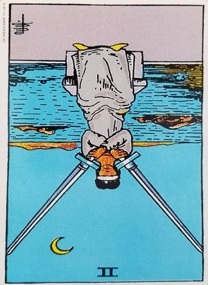 2 Of Swords Reversed