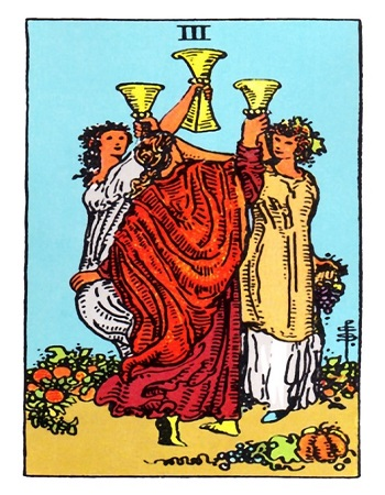3 of Cups, Three of Cups