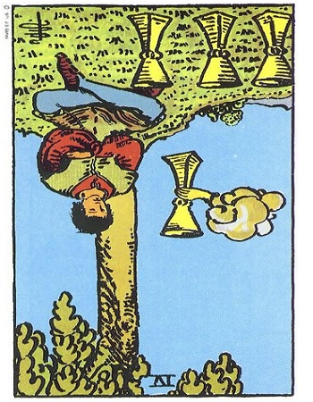 4 of Cups Reversed , Four of Cups Reversed