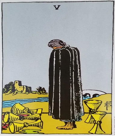 5 of Cups, Five of Cups