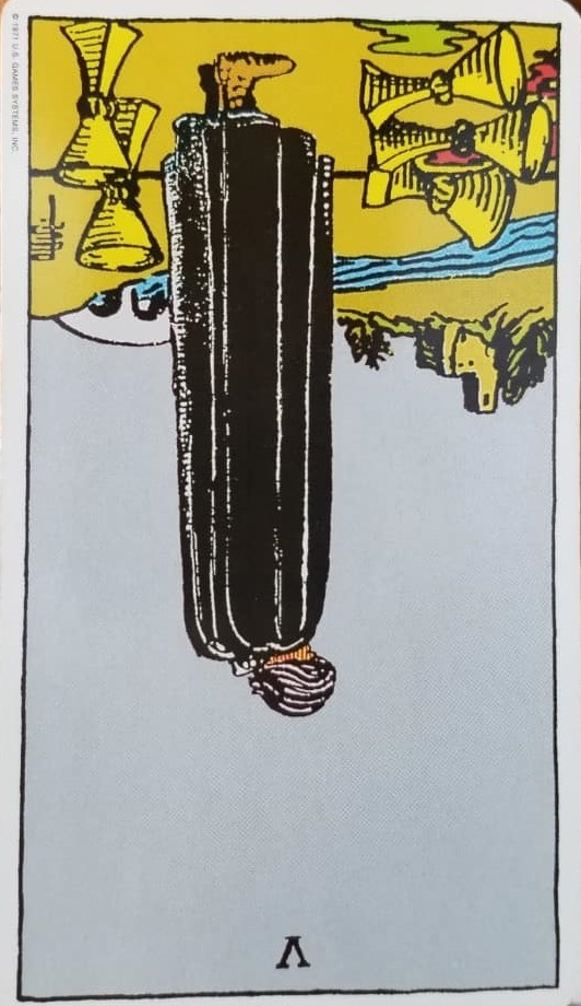5 of Cups Reversed, Five of Cups Reversed