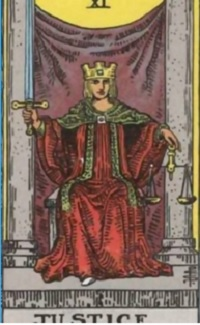 major arcana cards: Justice