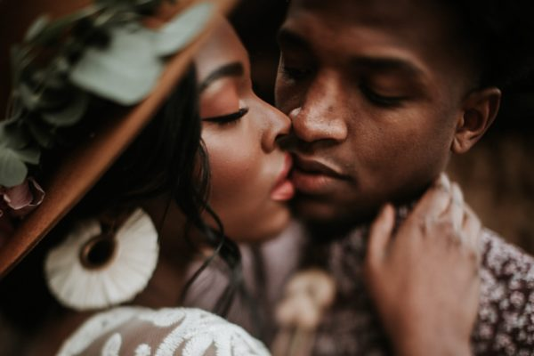 Taurus-Man-and-Virgo-woman: couple about to kiss