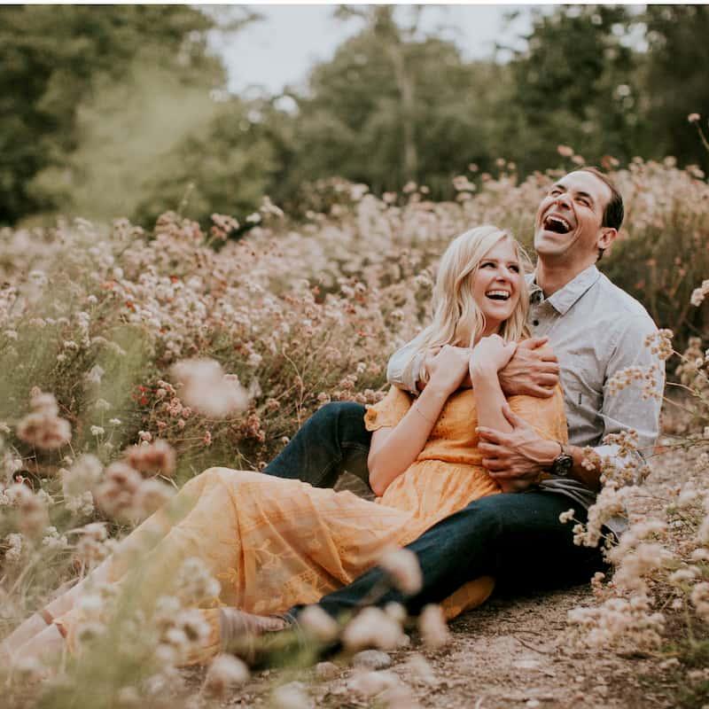 couple enjoying time on nature