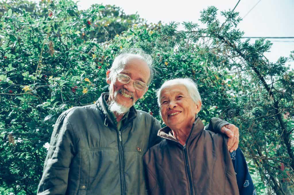Virgo man with Leo Woman:  couple standing cozily