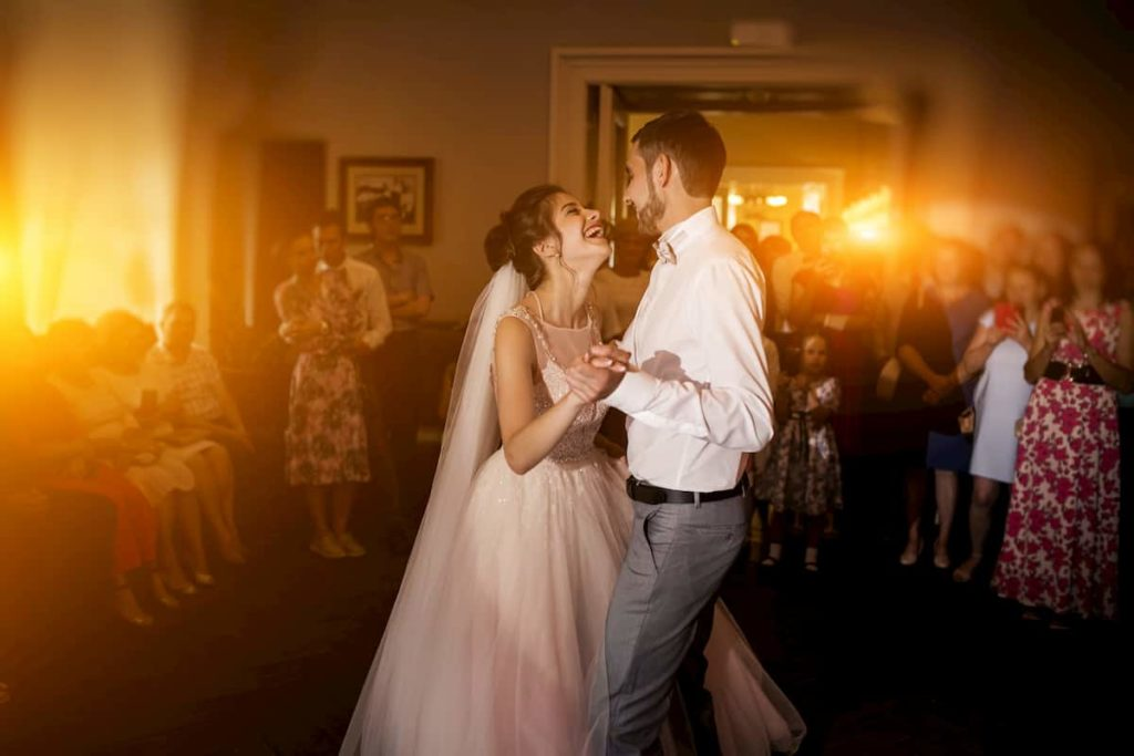 couple dancing in their wedding