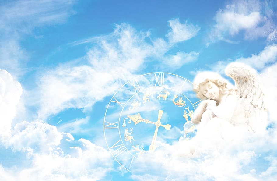 astrology sage reading: sun signs dial with angel