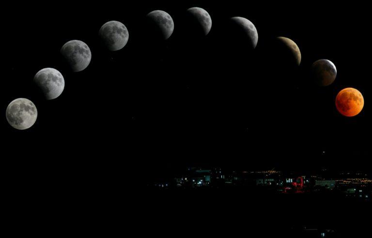 moon traversing across sky.Astrology readings