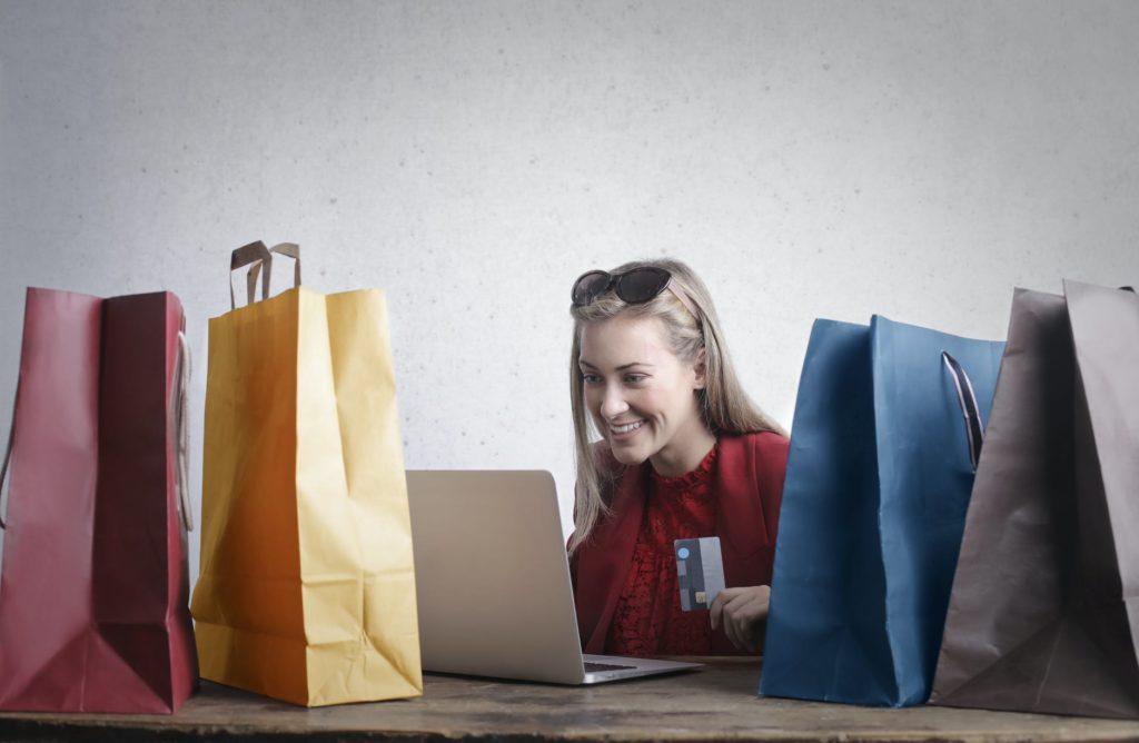 woman shopping online. financial abundance